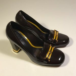 Tory Burch Patent Leather Clunky Heels Women 8 M